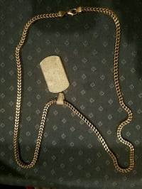 Silver dogtag chain necklace