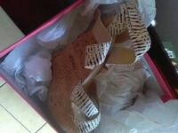 pair of white leather boots Stockton, 95207