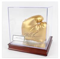 Mike Tyson signed gold glove with display case comes with COA Burlington, L7L 7B1