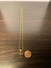 GENUINE SOLID 14K WOMEN'S GOLD NECKLACE & CROSS West Covina, 91791