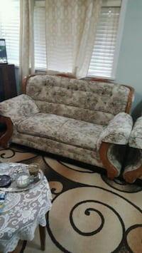 brown and beige floral fabric sofa Surrey, V3S 7R4