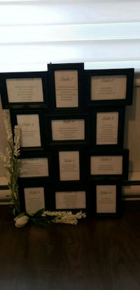 Picture frame and or table seating chart. Pick up in Lavsl