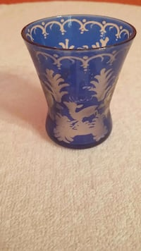 Vintage cameo glass toothpick holder Cape Coral