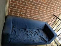 Blue couch with removable cover for easy cleaning Falls Church, 22043
