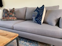 Grey Linen Couch Custom Great Condition! null