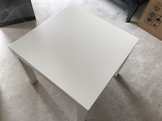 3x Ikea side table one white two black
