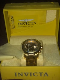round black Invicta chronograph watch with link bracelet Sharon Hill, 19079