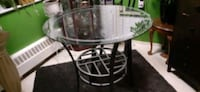 Glass top Heavy Iron counter height table