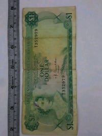 Used Bahamas One Dollar Paper Bwnk Note Bill