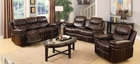 brown leather 3-seat sofa and loveseat Paradise Valley, 85253