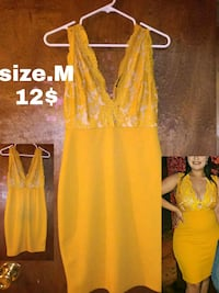 women's yellow sleeveless dress Alton