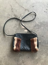 black and brown crossbody bag
