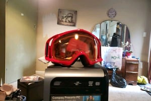 Red Oakley Snowboarding Googles