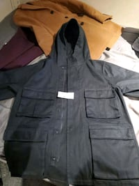 Oak and fort black winter coat.  Played 228.00 before tax.  Toronto, M8W 1T4