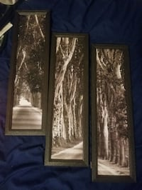 3 piece art set that connects to each other and makes a picture