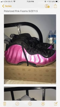 Pink foams size 11.5  Damascus, 20872