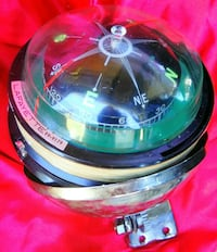 Large chrome pivoting compass for boats Woodstock, 22664