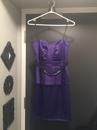 purple spaghetti strap mini dress Whitby, L1N