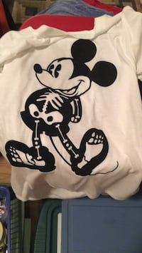 white and black Mickey Mouse print crew neck shirt Harrison, 54915