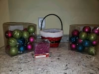 Christmas bulbs, Ornaments, Basket, all included.  Brockton, 02301