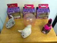 3 Furry Frenzies Collectible Toys with Hamster Ball Gardena
