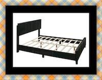 Queen bed platform bed with mattress 52 km