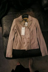 brown leather button-up jacket Calgary, T3A 2Z2