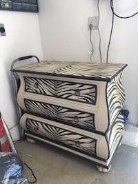 Large 3-Drawer Zebra Cabinet Murrieta, 92562