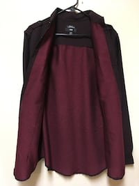 Burgundy collared dress shirt