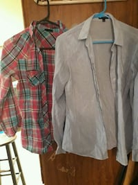 gray and red plaid dress shirt Cleveland, 37323