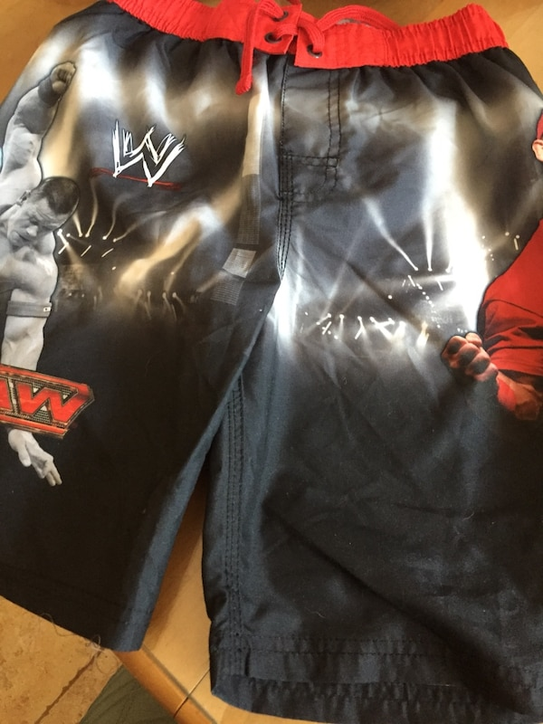 01e6835622 Used black and red WWE board shorts for sale in Brookhaven - letgo