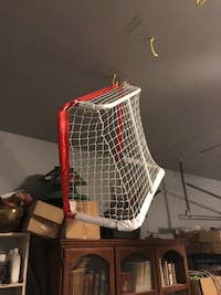 Mini hockey net with two sticks and puck Beaconsfield, H9W 1V9