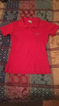 Red Lacoste Golf Shirt Toronto