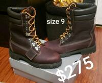 pair of brown leather combat boots with box Gaithersburg
