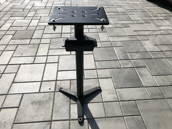 Cast Iron Bench Grinder Pedestal Stand with Water Pot New Heavy-duty Cast Iron