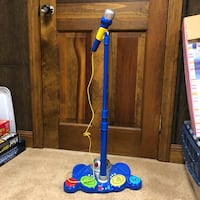 Kids microphone and stand with disco ball. Located in Boston Ma Lynnfield, 01940