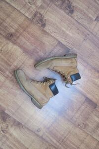 pair of brown Timberland leather workboots London, SE15 3BX