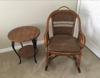 Rocking chair and side table Canton, 48188