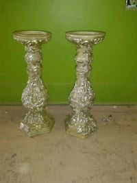Gold/silver flower vine candle holders Andover, 67002