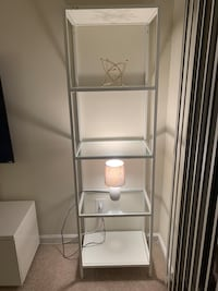 stainless steel framed glass top rack Reston, 20190