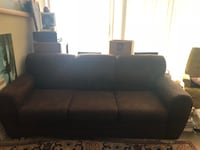 Brown suede couch good condition  Silver Spring, 20906