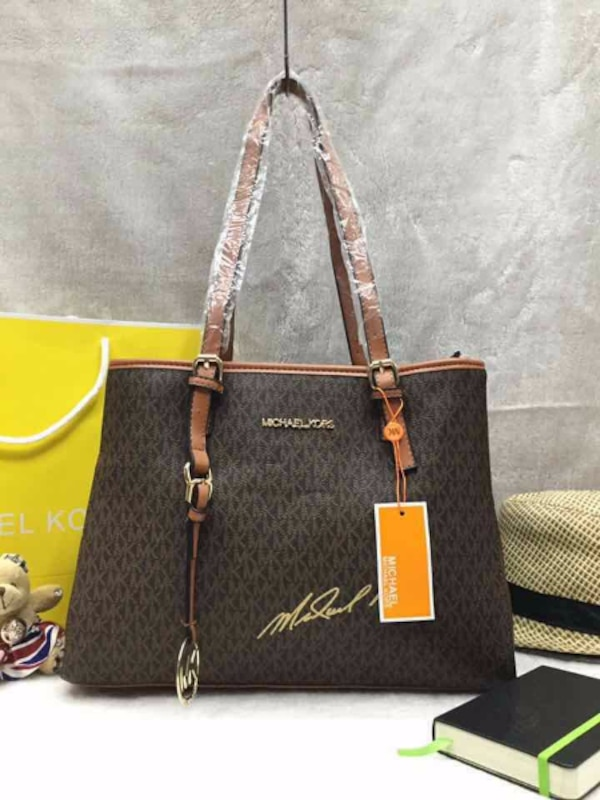 605f63e4089e Used itim monogrammed Michael Kors leather tote bag for sale in ...
