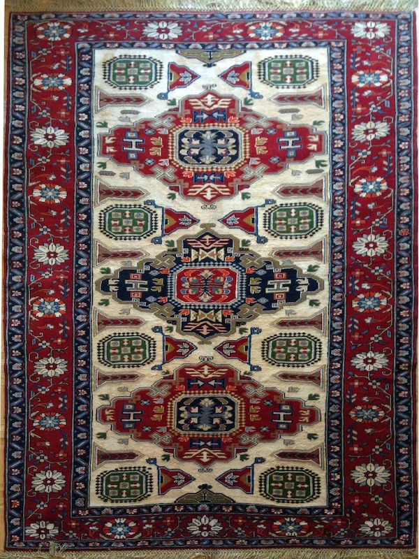Persian Rug From Iran Ardebil Silk And Wool