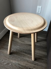 TWO STOOL/SIDE TABLES - BEECH WOOD Langley Township
