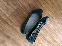 Ladies size 7 black flats Burnaby