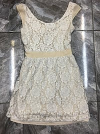 White and gray floral scoop-neck sleeveless dress Jacksonville, 32244