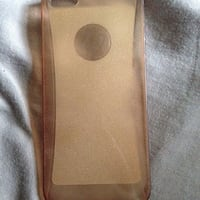 Étui iPhone en plastique marron
