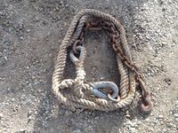 20 foot INCH&QUATER tow rope with extra largehooks.