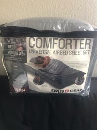 Comforter cover for twin air mattress. New..never been used