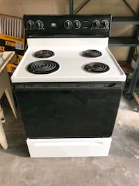 black and white 4-coil electric range oven St Petersburg, 33716